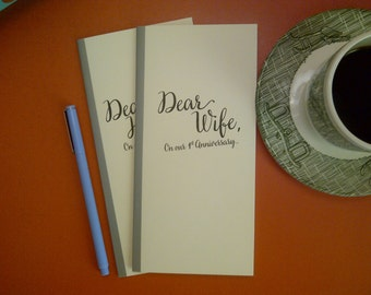 1st Anniversary // Dear Wife On Our 1st Anniversary Journal // Staple Bound Journal