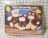 All Stuffed Up Bear Family Felt Kit