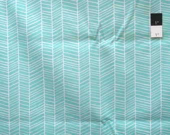 Joel Dewberry PWTC007 True Colors Herringbone Aqua Cotton Fabric By Yd