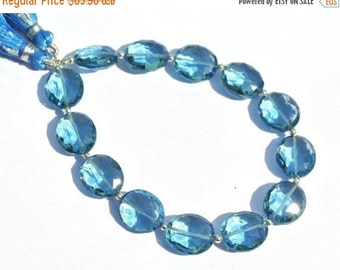 55% OFF SALE 8 Inches AAA London Blue Quartz Faceted Oval Briolettes Size 14x10mm Oval Bea