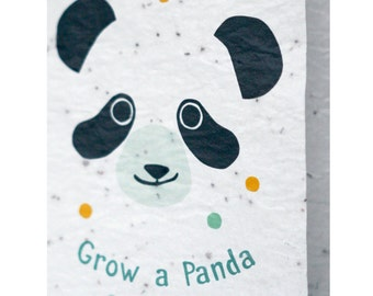 Seeded paper greeting card - Grow a Panda
