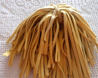 100 Hand Dyed Wool Rug Hooking Strips  Yellow