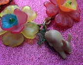 Baby Bunny Floral Cluster Necklace