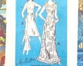 Vintage 1970s McMullen Scoop Neck Dress Pattern  - Prominent Designer M228
