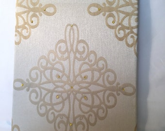 Swarovski Crystals Embellished Fabric Wall Art