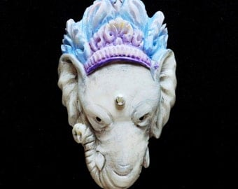 Artisan Signed Ganesha & Gray Pearls