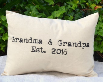 Personalized Grandparent Christmas gift, Hard to buy for, vintage look, pregnancy reveal, gift for her, grandfather gift, gift for her *