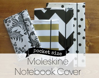 oilcloth moleskine journal cover RETIRED PRINTS // for pocket size cahier notebook soft cover 3.5 x 5.5