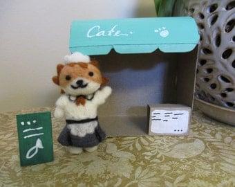 Felted Sassy Fran of Neko Atsume Kafe San
