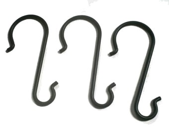 Wrought Iron Ladder Hooks-set of 3- for your crafting needs, craft room or show display --handmade in the USA