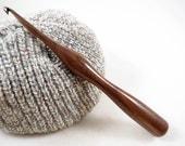 Hand-Turned American Black Walnut Crochet Hook size J - Ready to Ship