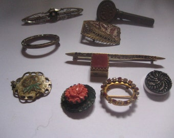 Destash Lot of Victorian Items for Repair or Reuse in Other Pieces of Jewelry