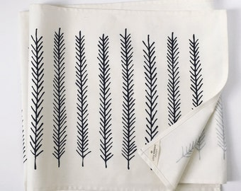 Feather Table Runner - Screen Printed
