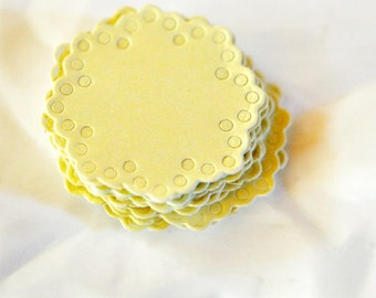 Lemon Yellow Doily Envelope Seals | Paper Doily Stickers | Baby Shower | Gender Neutral Invitation Seals | Lemon Yellow Doily Embellishments