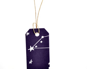 NEW Gift Tags {10} Large Night Sky/ Stars Labels Scrapbooking Embellishments DIY Housewarming Engagement Party Event