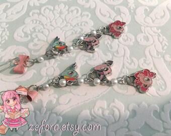 My Little Pony Long Dangle Pink Bow Earrings