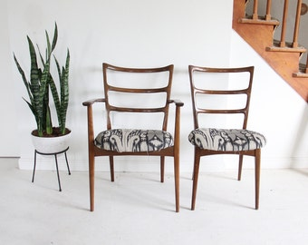 Danish Mid-Century Modern Ladderback Dining Chairs Koefoeds Hornslet Style