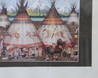 Framed Teepee & Family Campout Print