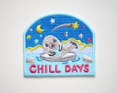 Baby Seal Chill Days Iron On Patches