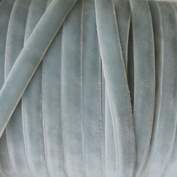 3 Yards Velvet Ribbon Trim Ice Blue 1/4 Inch Wide .25 Inch Wide