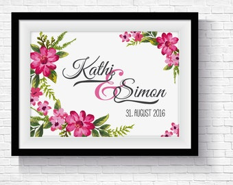Wedding poster name gift