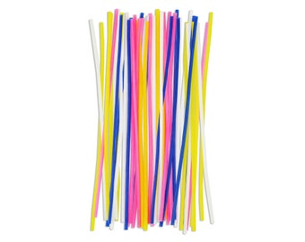 Tall Skinny Birthday Candles - 24 thin birthday cake party candles