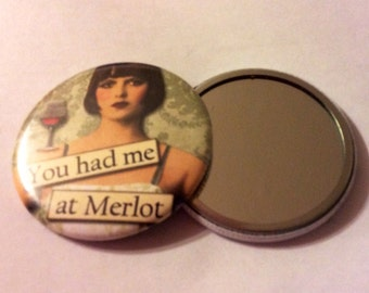 Pocket Mirrors - WINE Sayings