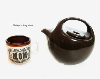 Vintage Ceramic Teapot and Tea Cup / Coffee Mug for MOM