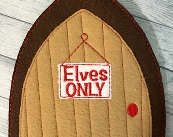 Felt Christmas elf door elves only