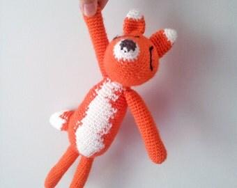 Sleeping fox toy ,Christmas gift for children, woodland , christmas