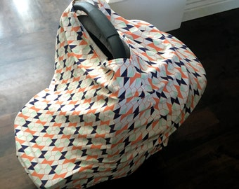 Seed Packet Car Seat Canopy, Nursing Cover, Shopping Car Cover & Scarf