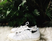 1990s All White ADIDAS Sneakers Size 9