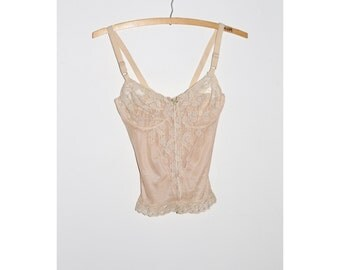 1960s Cream Lace Bralette