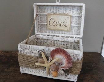 Beach Cottage Wedding Card Basket Holder