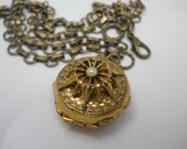 RESERVED FOR JENNY   Vintage 1940's Era Locket with Removable Metal Frames Four Photos Double Locket