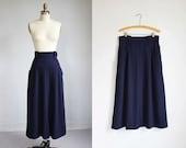 vintage Karl Lagerfeld midnight blue high waisted skirt / m - l