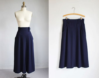 vintage Karl Lagerfeld midnight blue high waisted skirt / m - l