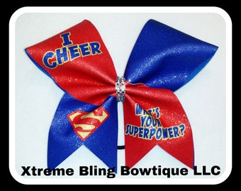 Cheer Bow-I Cheer What's Your Superpower