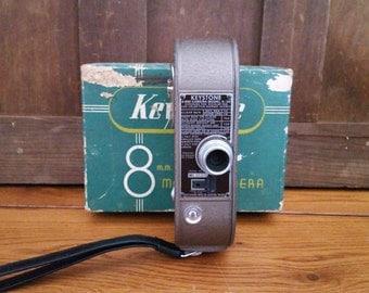 Vintage Keystone 8mm Model K-16 Movie Camera with Original Box and Instructions