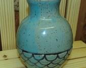 Light blue mermaid vase