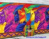 Dancing Horses Handmade Long Wallet - BiFold Clutch - Vegan Wallet -  Laurel Burch Dancing Horses