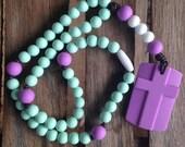 Mint & Purple Chews Life Soft Rosary