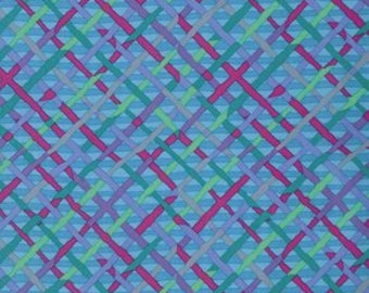 One fat quarter Turquoise Mad Plaid - Kaffe Fassett fabric PWBM037.TURQ