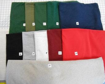 Cotton poly SWEATSHIRT FLEECE wonderful colors textures 1/2 yd x wide