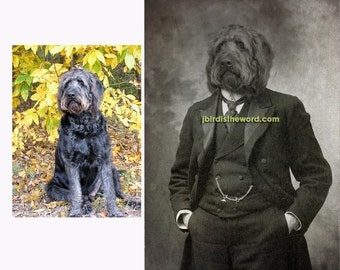11x14 Custom Vintage Antique photograph rendering of your pet FREE SHIPPING in the USA