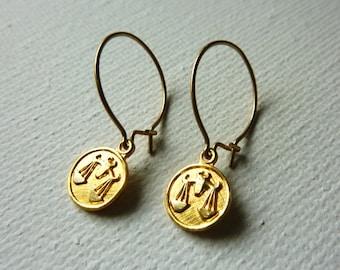 Libra Earrings. Delicate Bohemian Jewelry