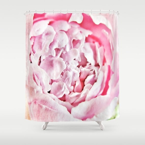Pink Peony Shower Curtain, Flower Bathroom, petals Home Decor, Blossom Shower Curtain, Nature Home Decor, Whimsical, Surf, Holiday, hotel