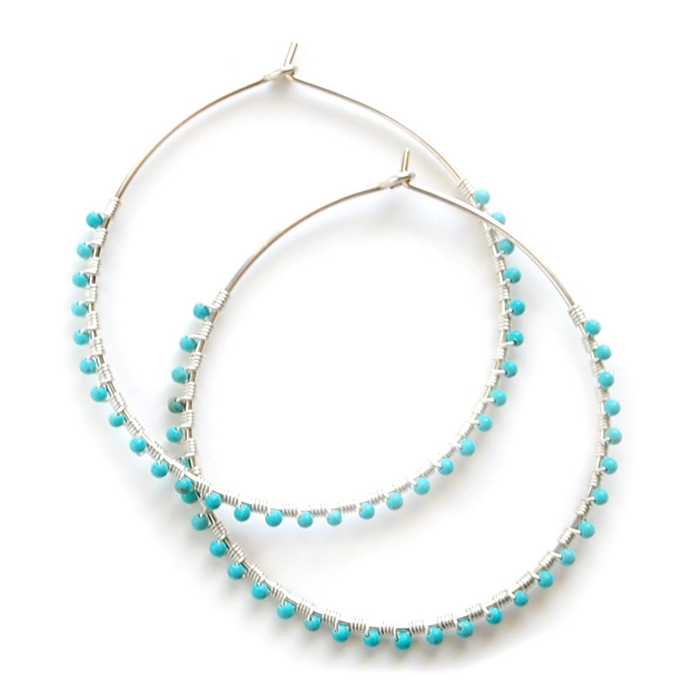 turquoise hoop earrings gold turquoise hoops silver. Black Bedroom Furniture Sets. Home Design Ideas