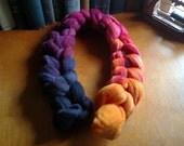 Customs Listing for BEE - Gradient Roving Merino Wool Embers 4.5 oz