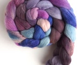 Targhee Wool Roving - Hand Painted Spinning or Felting Fiber, The Long View